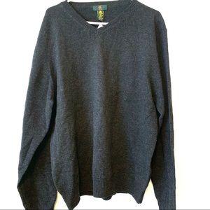 NWT Club Room Mens Large 100% Wool Granite Sweater